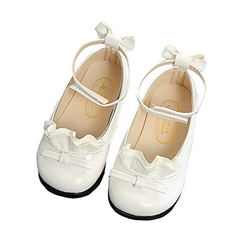 Toddler Girls Ankle Strap Mary Jane Flats Patent Leather Princess Dress Shoes