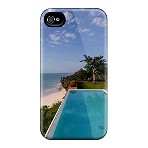 Hot Tpu Cover Case For Iphone/ 4/4s Case Cover Skin - Living In Zanzibar