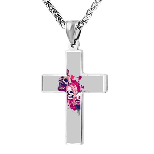Wine Jianxian Three From Hell Cross Pendant Jewelry Zinc Alloy Prayer Necklace For Men Women With Necklace,24 -