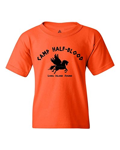 Shop4Ever Camp Half Blood Youth's T-Shirt Youth Large Orange 0 (T-shirt Youth Only Medium)