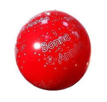 Balón gigante 1 m Bonne Annee rojo - Calidad coolminiprix®: Amazon ...