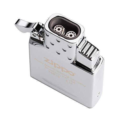 Zippo Butane Lighter Insert - Double Torch, One Size, Chrome