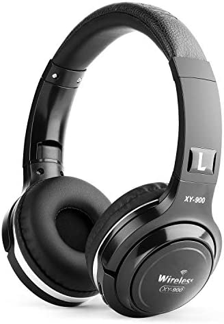KEQ Upgraded Wireless Bluetooth On-Ear Headphones Hi-Fi Stereo Deep Bass Headset with Mic for Phone-Call Comfortable Earpads 30 Hours Playtime for Travel,Work,Sport (Black)