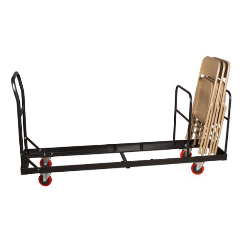 Norwood Commercial Furniture Folding Chair Dolly NOR-FEI1019-SO Black