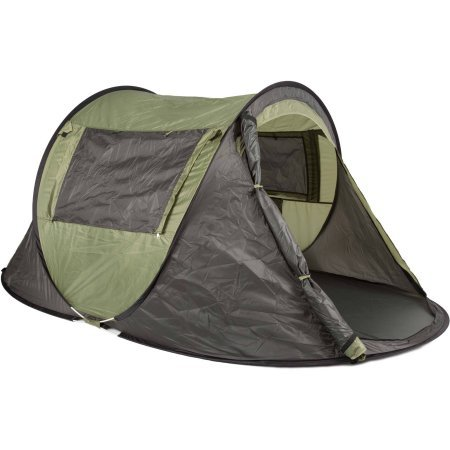 Lightweight 2-Person Camping Tent, Olive Green and Grey