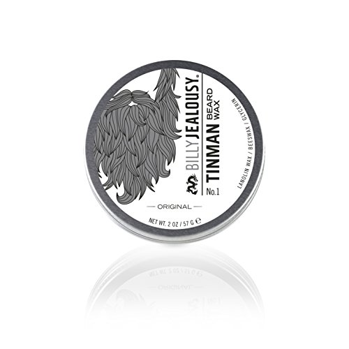 Billy Jealousy Tin Man No. 1 Nourishing Styling Beard Wax, 2 Oz.