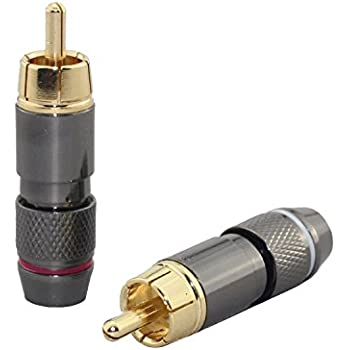 Amazon.com: Lollipop Speaker Wire Cable to Audio Male RCA Connector ...