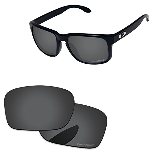 Grey Replacement Lenses - PapaViva Replacement Lenses for Oakley Holbrook Black Grey - Polarized