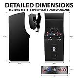 Creative Arcades Full Size Commercial Grade Cabinet Arcade Machine | Trackball | 60 Classic Game | 2 Sanwa Joysticks | 3- year warranty