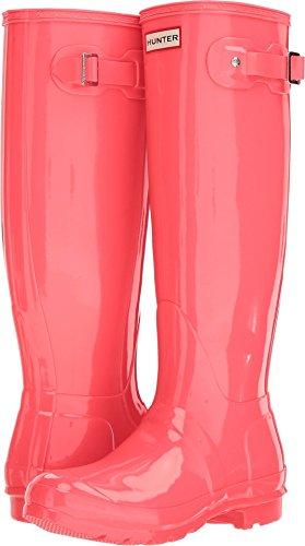 Hunter Women's Original Tall Gloss Rain Boots Hyper Pink 8 M US