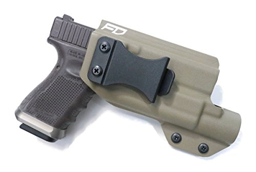 (Fierce Defender TLR1 Compatible Glock 19 23 32 IWB Kydex Holster The Winter Warrior Series -Made in USA- GEN 5 Compatible (Flat Dark Earth))