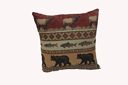 Lodge Throw Pillow Cover 20x20 Throw Pillows for Couch - Bes