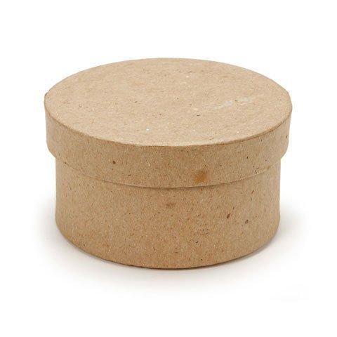 (Darice Bulk Buy DIY Paper Mache Mini Box Round 3 inch (3-Pack) 2807-20)
