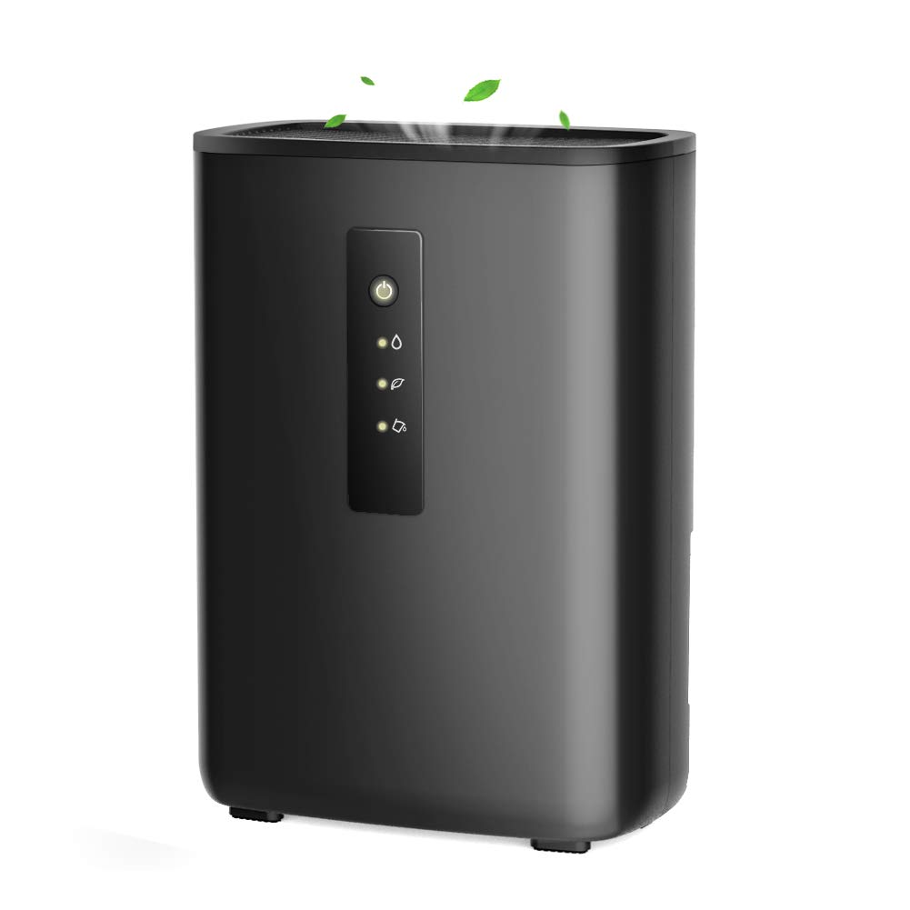 Trustech Electric Dehumidifier - Portable 4.2 Pints Dehumidifier Touch Control 2L Water Tank Spaces up to 269 Sq.ft, Small Dehumidifiers Home Bedroom Basement RV Caravan Office Garage Kitchen E01