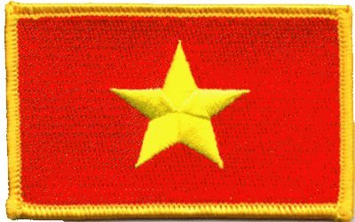 Vietnam iron-on embroidered
