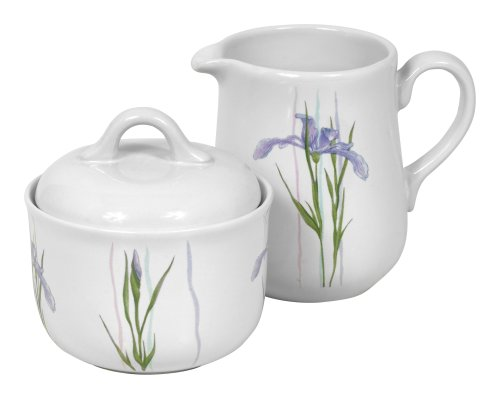 Corelle Coordinates Sugar and Creamer Set, Shadow Iris