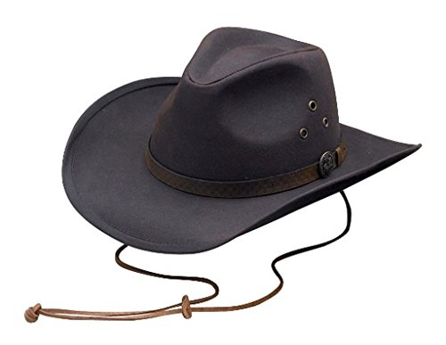 Outback Trading CO Men's CO. Oilskin Trapper Hat Brown Medium