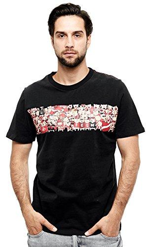 Atributika & Club FC Spartak Moscow Fanatics t-Shirt, Russian Soccer, Black, Size M