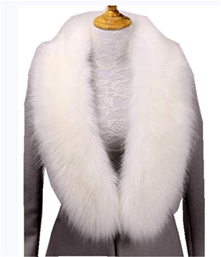 (Faux Fur Collar Scarf Hood Collar Shawl Stole Neck Warmer for Winter Coat Jacket Parka (120cm/47.2
