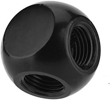 "VBESTLIFE G1 / 4""金属球形管 黄銅製 耐久性 PCウォーター冷却用 継手コネクタ 交換部品(ブラック)"