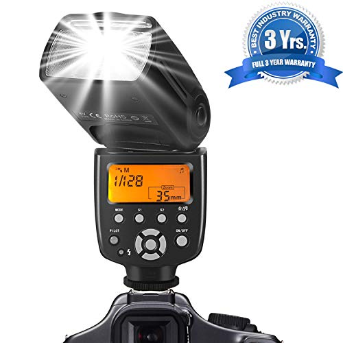- SF770I Flash Speedlite for Canon Nikon Panasonic Olympus Pentax and Other DSLR Cameras,Digital Cameras with Standard Hot Shoe