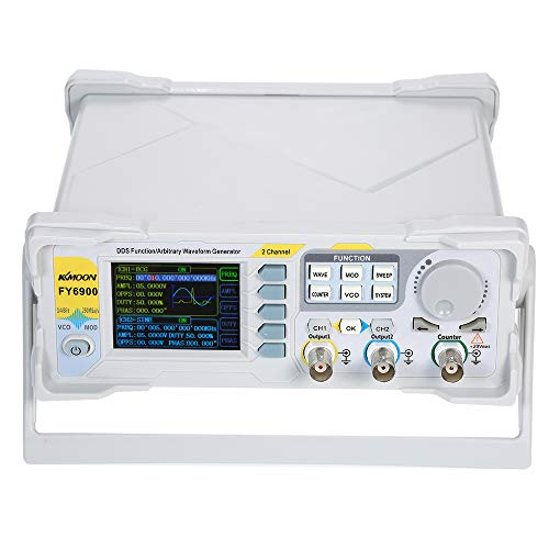 KKmoon 60MHz Function Generator Digital DDS Function Signal/Arbitrary Waveform Generator Pulse Signal Source 250MSa/s Frequency Meter VCO Burst AM/PM/FM/Ask/FSK/PSK Modulation Source Generator