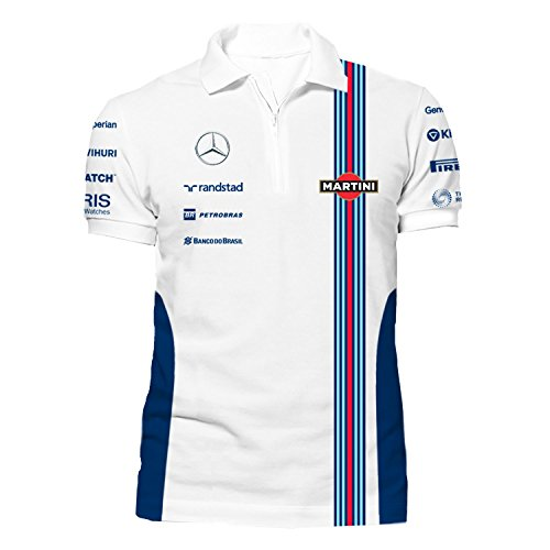 The Williams Martini Team Zip Polo Shirt, - Racing Shirt Martini