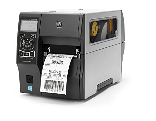 - Zebra ZT41043-T010000Z ZT410 Industrial Thermal Transfer Table Top Printer, 300 DPI, Monochrome, With 10/100 Ethernet, Bluetooth 2.1, USB Host