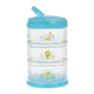 Innobaby Packin' Smart Stackable and Portable Storage System for Formula, Baby Snacks and more. 3 Stackable Cups in Blueberry Sorbet. BPA Free.
