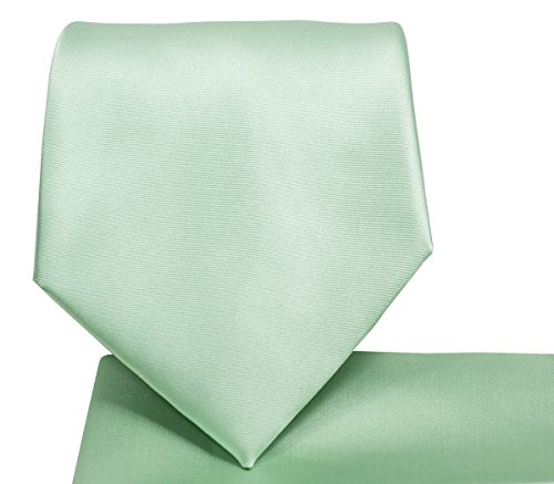 Solid Mint Green Necktie and Pocket Square Set