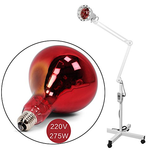 Infrared Heat Lamp Pain Relief Effective Treatment IR Heating Floor Lamp Dimmable 275W Massage Arthritis Physiotherapy B