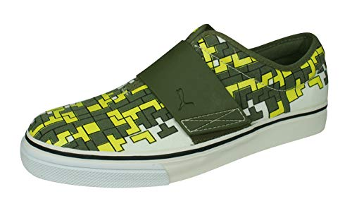 PUMA El Rey Graphic Pack 90's Mens Slip On Sneakers Skate Shoes-Green-10.5 (Puma Shoes El Rey)