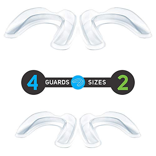 Xmifer Sports Mouth Guards (4 pcs), Athletic Teeth Mouthguards for Football,Boxing,Hockey,Basketball,MMA,Wrestling,Youth & Adult Size, Include 4 Hygiene Mouthguard Case,Safe EVA Material BPA Free by Xmifer