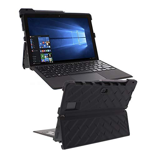 Gumdrop Droptech Case Designed for Dell Latitude 5285 and Latitude 5290 2-in-1 Laptop for Commercial, Business and Office Essentials - Black, Shock Absorbing, Rugged, Extreme Drop Protection ()