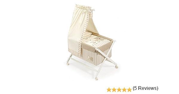 Minicuna DOSEL Plegable Love BEIGE: Estructura + Vestidura + Dosel + Colcha Desenfuntable + Colchón + Almohada: Amazon.es: Bebé