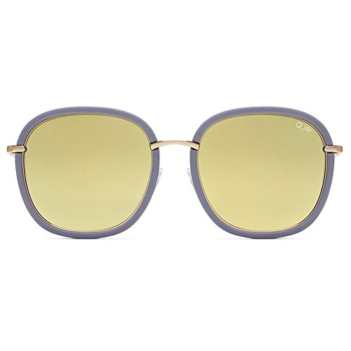 Quay Dreamy Ways Sunglasses | Rounded Frames - Reflective Lens | UV - Fame Sunglasses Quay Needing