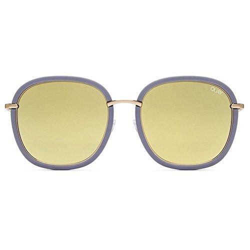 Quay Dreamy Ways Sunglasses | Rounded Frames - Reflective Lens | UV - Needing Quay Sunglasses Fame