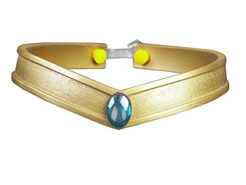 Cosfun Sailor Queen Headwear/Tiara Accessories Gold PVC Props Cosplay (Mercury Mizuno Ami)