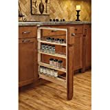 Base Cabinet Fillers with Soft Close Drawer Slides, 3'', 6'', & 9'' Wide Fillers with Adjustable Wood Shelves