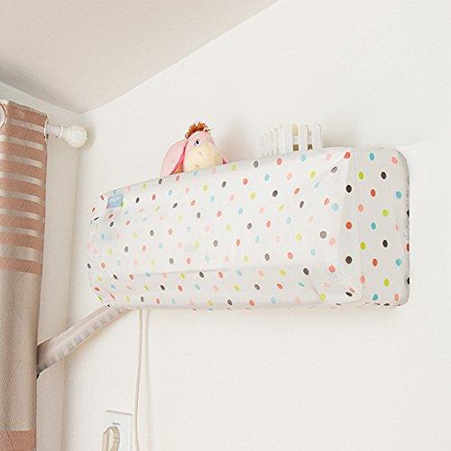 エアコンカバー 室内用 エアコン室内機カバー 洗える 防湿 防塵 おしゃれ 選べる3色 76*31*20cm(四つ葉のクローバー)