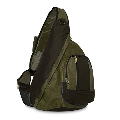 Everest Sling Bag Oliva/ Negro