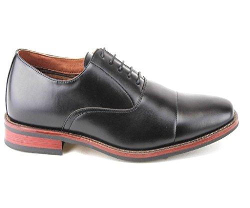 Ferro Aldo Heren 19516l Cap Teen Klassieke Balmoral Veter Oxford Dress Schoenen Zwart
