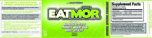 Eatmor Appetite Stimulant | Weight Gain Pills for Men and Women | Natural Orxegenic Supplement