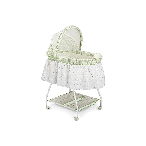 Delta Sweet Beginnings Bassinet with Vibration, Music, and Night Light-Neutral