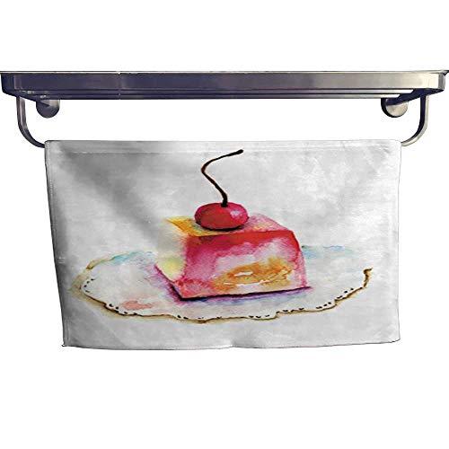 warmfamily Dry Fast Towel Cake with Cherry Towel W 20