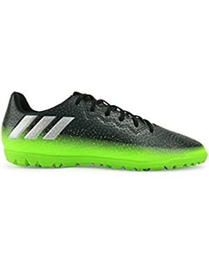 Kids Messi 16.3 Turf Soccer Shoes Dark Grey/Silver Metalic/Solar Green Soccer Shoes