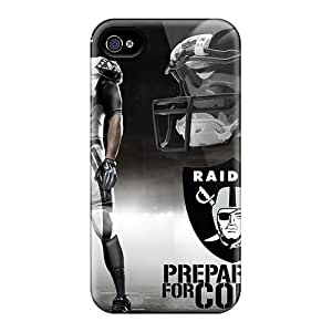 Anti-Scratch Hard Phone Cover For Iphone 4/4s With Support Your Personal Customized Beautiful Oakland Raiders Pictures LisaSwinburnson