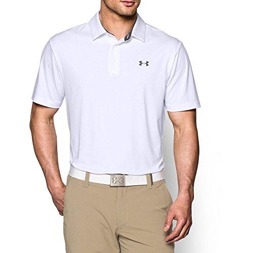 Under Armour Men's Playoff Polo, White/Graphite, XX-Large