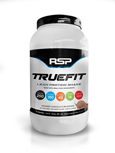 RSP TrueFit - Lean Meal Replacement Protein Shake with Fiber & Probiotics from Essential Real Whole Foods, Gourmet Chocolate Milkshake, 2 Pound Protein Powder for Men & Women (Muscle Building Milkshake)