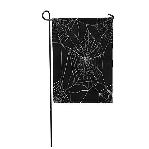 Semtomn Garden Flag Spiderweb Spider Made Clipping Mask